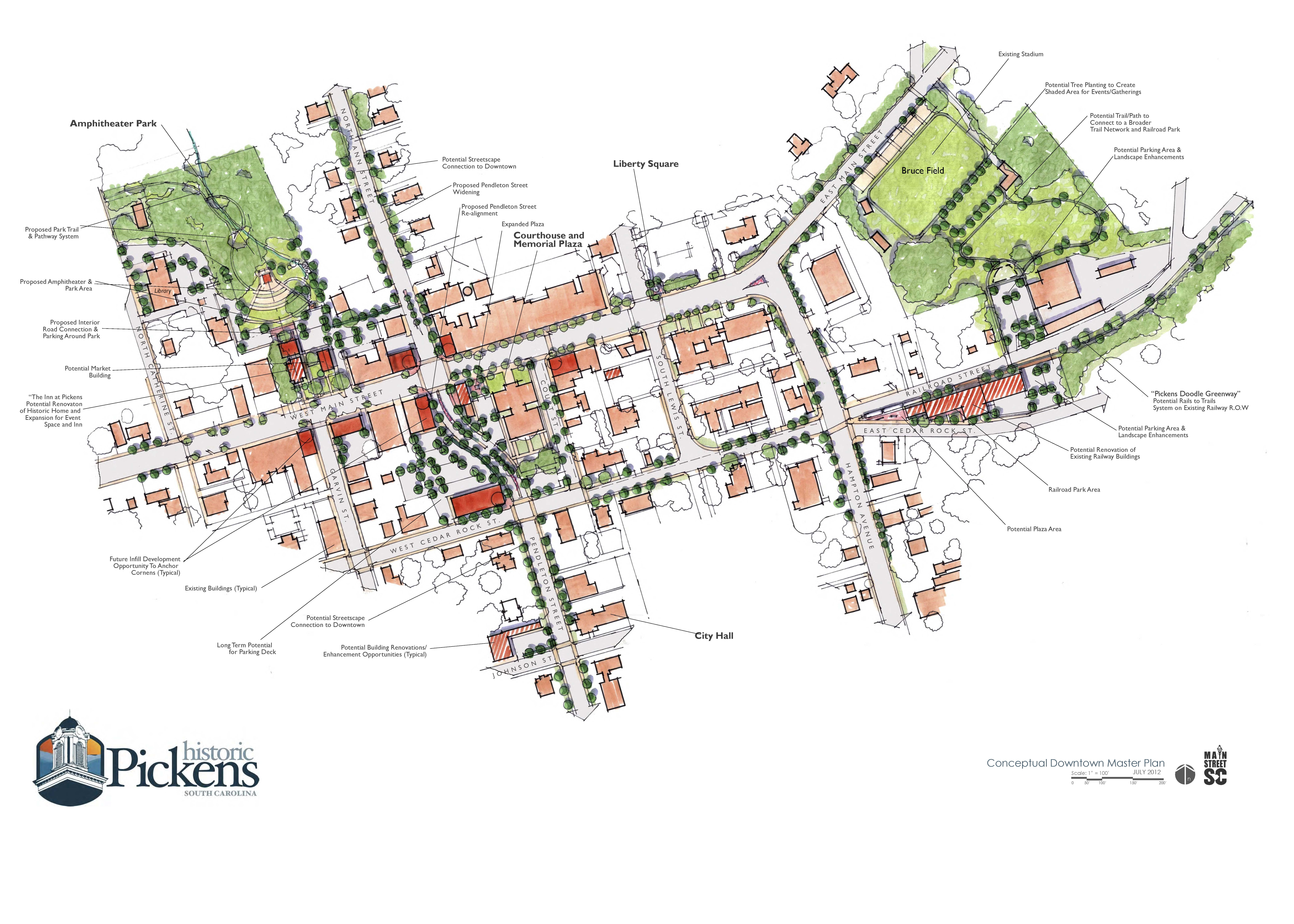 Pickens Downtown Master Plan - Official Website of the City of ... on